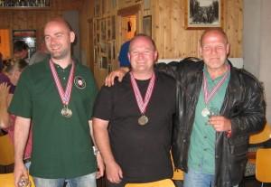 Meg sammen med de andre norske sølvguttene Richard Eldor og Eldar Gulli etter andreplassen i Nordic Cup.