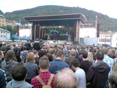 Iron Maiden på Koengen i Bergen 11. august 2010.