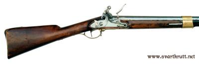 Ferdig bilde av en svensk M-1815 flintlåsmuskett.