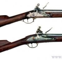 Flintlåsmusketter: Engelsk Brown Bess og svensk M-1815. Til en artikkel i Luft & handvapenguiden 2010.
