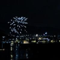 Nyttårsfyrverkeri over Bergen.