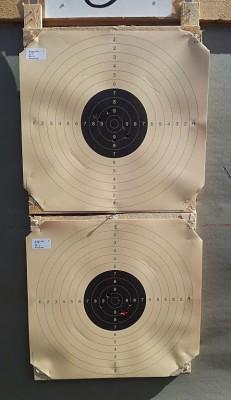 Remington Match-serien (skuddet som er sensurert med rødt er ikke mitt, det ble donert av en annen skytter – dessverre uten at det hjalp på poengsummen!)