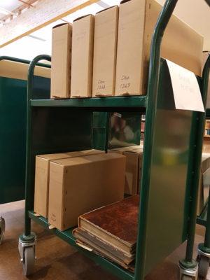 En ny arkivtralle er klar på Riksarkivet.